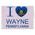 Amo a Wayne, PA Felicitación