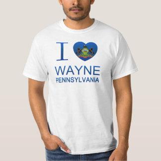Amo a Wayne, PA Playera