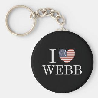 Amo a Webb Llavero Redondo Tipo Pin