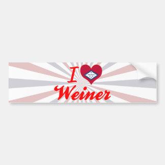 Amo a Weiner Arkansas Pegatina De Parachoque