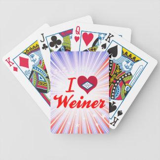 Amo a Weiner Arkansas Baraja Cartas De Poker