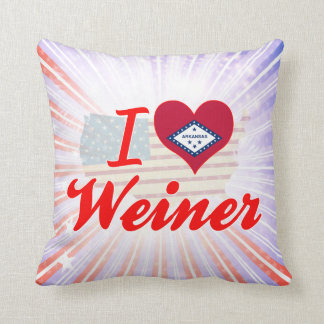 Amo a Weiner Arkansas Cojines