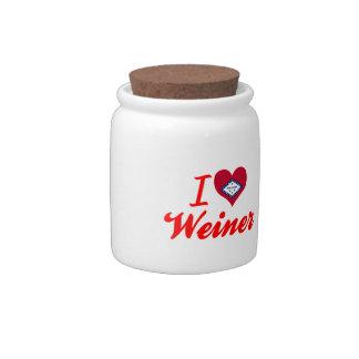 Amo a Weiner Arkansas Plato Para Caramelo