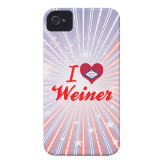 Amo a Weiner Arkansas Case-Mate iPhone 4 Cárcasa