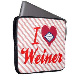 Amo a Weiner Arkansas Funda Computadora