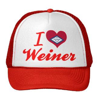 Amo a Weiner Arkansas Gorras De Camionero
