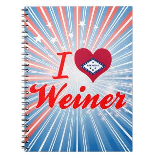 Amo a Weiner Arkansas Libro De Apuntes Con Espiral