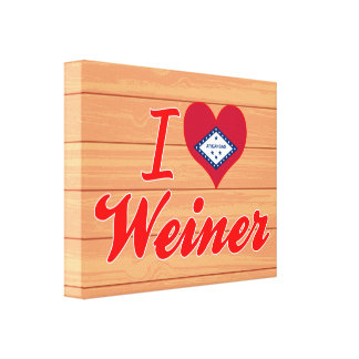Amo a Weiner Arkansas Impresiones En Lona