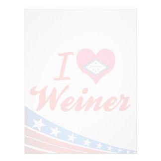 Amo a Weiner Arkansas Plantilla De Membrete