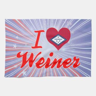 Amo a Weiner Arkansas Toallas