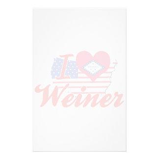 Amo a Weiner Arkansas Papeleria Personalizada