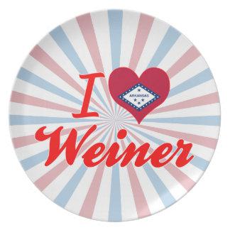 Amo a Weiner Arkansas Platos De Comidas