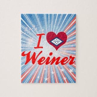 Amo a Weiner Arkansas Rompecabeza Con Fotos