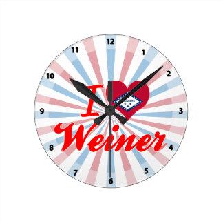Amo a Weiner, Arkansas Reloj De Pared