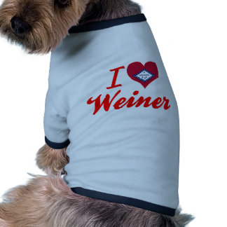 Amo a Weiner Arkansas Camisas De Mascota