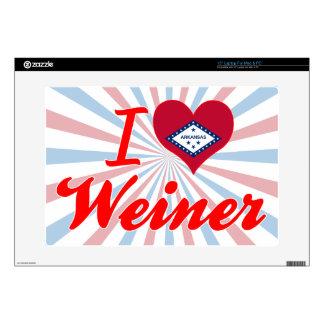 Amo a Weiner Arkansas Calcomanías Para 38,1cm Portátiles