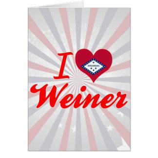 Amo a Weiner Arkansas Tarjetas