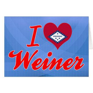 Amo a Weiner Arkansas Tarjeta