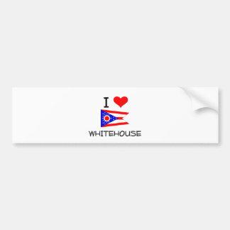 Amo a Whitehouse Ohio Etiqueta De Parachoque