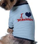 Amo a Whittier, Alaska Camisetas Mascota