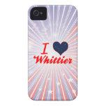 Amo a Whittier, Alaska Case-Mate iPhone 4 Funda