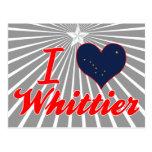 Amo a Whittier, Alaska Tarjeta Postal