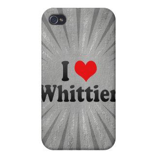 Amo a Whittier Estados Unidos iPhone 4 Cárcasas