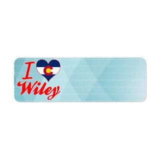 Amo a Wiley, Colorado Etiquetas De Remite