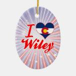 Amo a Wiley, Colorado Ornamentos De Reyes Magos