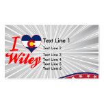 Amo a Wiley, Colorado Tarjeta De Negocio