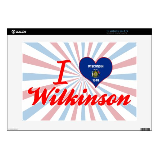 Amo a Wilkinson, Wisconsin Skins Para 38,1cm Portátil