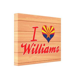Amo a Williams, Arizona Impresión En Lienzo Estirada
