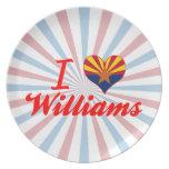 Amo a Williams, Arizona Plato De Cena