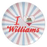 Amo a Williams, California Plato Para Fiesta