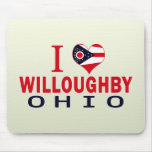 Amo a Willoughby, Ohio Alfombrilla De Ratones