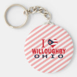 Amo a Willoughby, Ohio Llaveros