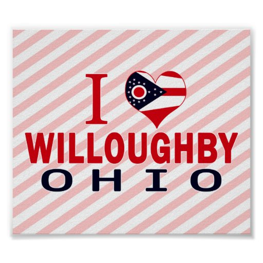 Amo a Willoughby, Ohio Poster