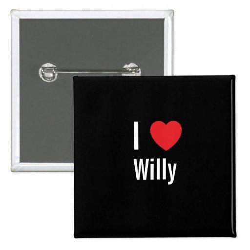 Amo a Willy Pin Cuadrada 5 Cm
