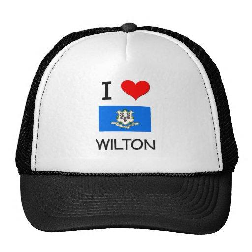 Amo a Wilton Connecticut Gorro De Camionero