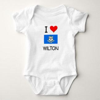 Amo a Wilton Connecticut Remeras