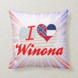 Amo a Winona, Mississippi Almohadas