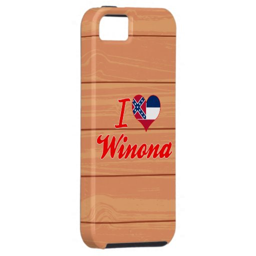 Amo a Winona, Mississippi iPhone 5 Case-Mate Protectores