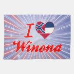 Amo a Winona, Mississippi Toalla De Cocina