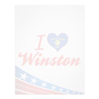 Amo a Winston, Oregon Plantilla De Membrete