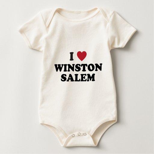 Amo a Winston Salem Carolina del Norte Body Para Bebé
