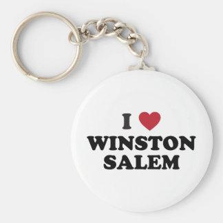 Amo a Winston Salem Carolina del Norte Llavero Personalizado