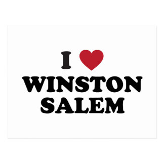 Amo a Winston Salem Carolina del Norte Postales