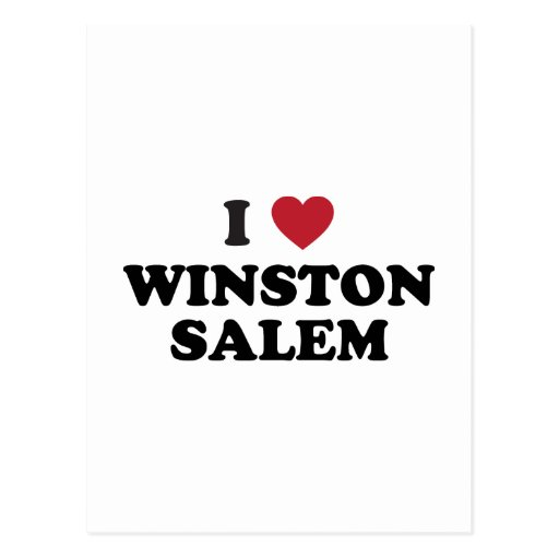 Amo a Winston Salem Carolina del Norte Tarjeta Postal