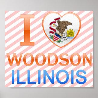 Amo a Woodson, IL Póster