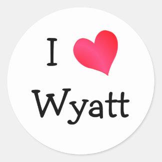 Amo a Wyatt Pegatinas